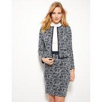 M&S Collection Cotton Blend Jacquard Print Pencil Skirt