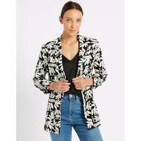 M&S Collection Floral Print Ruched Blazer