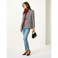 M&S Collection Oversized Gingham Double Breasted Blazer