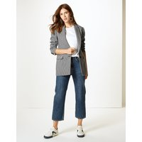 M&S Collection Houndstooth Longline Blazer