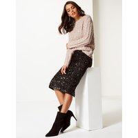 Per Una Embellished Pencil Midi Skirt