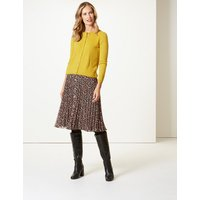 M&S Collection Floral Print Pleated Skirt
