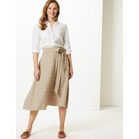 M&S Collection Checked Wrap Skirt
