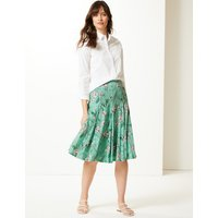 M&S Collection Floral Print Fit & Flare Skirt