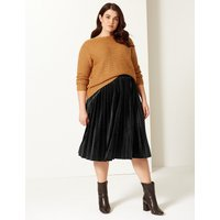 M&S Collection CURVE Pleated Skirt