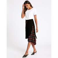 M&S Collection Checked Wrap Midi Skirt