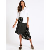 M&S Collection Spotted Wrap Midi Skirt