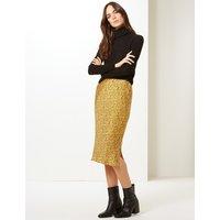M&S Collection Animal Print Slip Midi Skirt