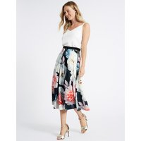 M&S Collection Floral Print Full Skirt