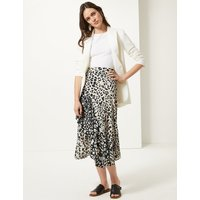 M&S Collection Animal Print Wrap Midi Skirt