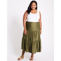 M&S Collection CURVE Tiered Full Maxi Skirt