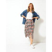 Per Una Printed Fit & Flare Midi Skirt