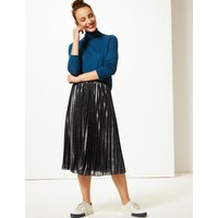 M&S Collection Sparkly Pleated Midi Skirt