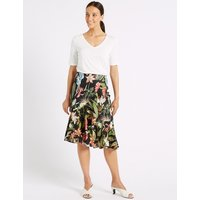 M&S Collection Frill Hem Floral Print Wrap Skirt