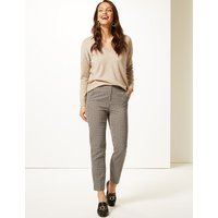 MandS Collection Mia Slim Checked Ankle Grazer Trousers
