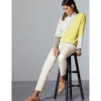 Autograph Cotton Rich Slim Leg Ankle Grazer Trousers
