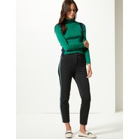 M&S Collection Side Stripe Slim Leg Trousers