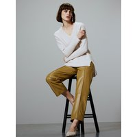 Autograph Leather Straight Leg Trousers