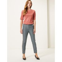 M&S Collection Side Stripe Slim Ankle Grazer Trousers