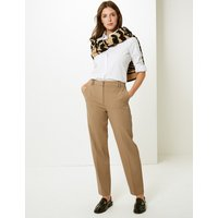 M&S Collection Relaxed Straight Leg Trousers