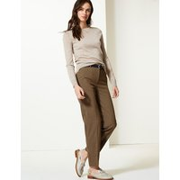 M&S Collection Checked Relaxed Straight Leg Trousers