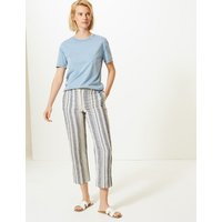 M&S Collection Striped Straight Leg Trousers