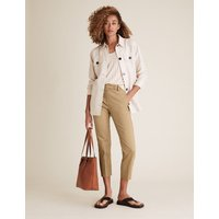 M&S Collection Mia Slim Cotton 7/8 Trousers