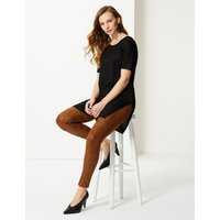 M&S Collection Animal Print Skinny Leg Trousers