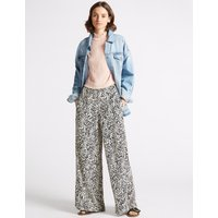 Limited Edition Animal Print Wide Leg Trousers