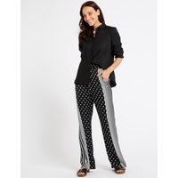 M&S Collection Spotted Wide Leg Trousers