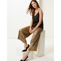 M&S Collection Sparkly Wide Leg Trousers