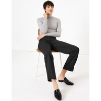 M&S Collection Straight Split Front Trousers