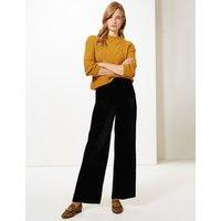 M&S Collection Velvet Wide Leg Trousers