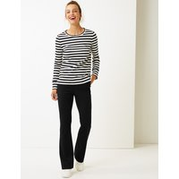 M&S Collection Slim Bootcut Leg Trousers