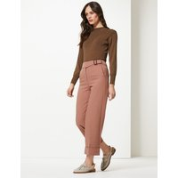 M&S Collection Wide Leg Ankle Grazer Trousers