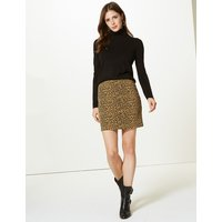M&S Collection Animal Print A-Line Mini Skirt
