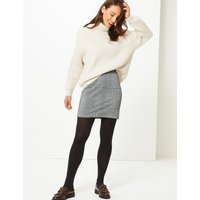 M&S Collection Checked A-Line Mini Skirt