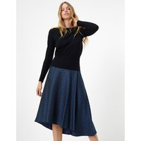 MandS Collection Jacquard Pleated Midi Skirt
