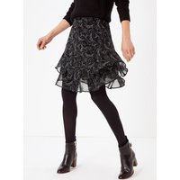 M&S Collection Printed Ruffled A-Line Mini Skirt