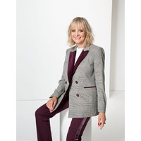 Twiggy for M&S Collection Checked Double Breasted Blazer