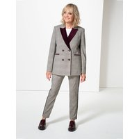 Twiggy for M&S Collection Checked Straight Leg Trousers