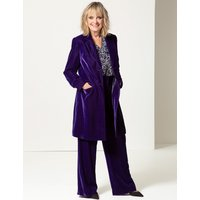 Twiggy for M&S Collection Velvet Wide Leg Trousers