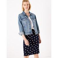 MandS Collection Polka Dot Jersey Pencil Skirt