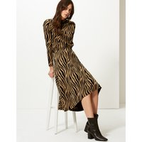 M&S Collection Animal Print A-Line Midi Skirt