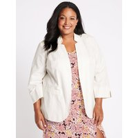 M&S Collection CURVE Linen Blend Blazer
