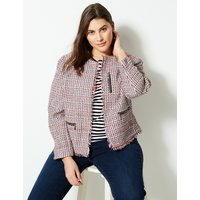 M&S Collection CURVE Textured Open Front Blazer
