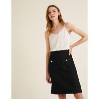 MandS Collection Wool Tweed Textured Mini A-Line Skirt