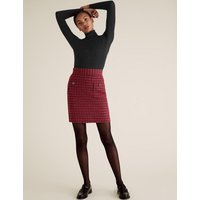 MandS Collection Tweed Checked Mini A-Line Skirt