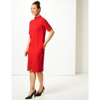 M&S Collection Heavy Crepe Half Sleeve Shift Dress