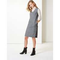 M&S Collection Checked V-Neck Tunic Dress